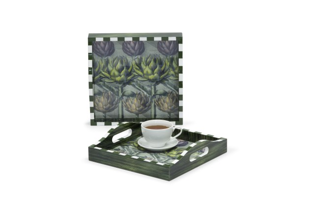 LACQUER PRINTING PATTERN SERVING TRAY 3