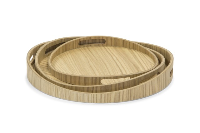 MDF OAK VENEER SERVING TRAY