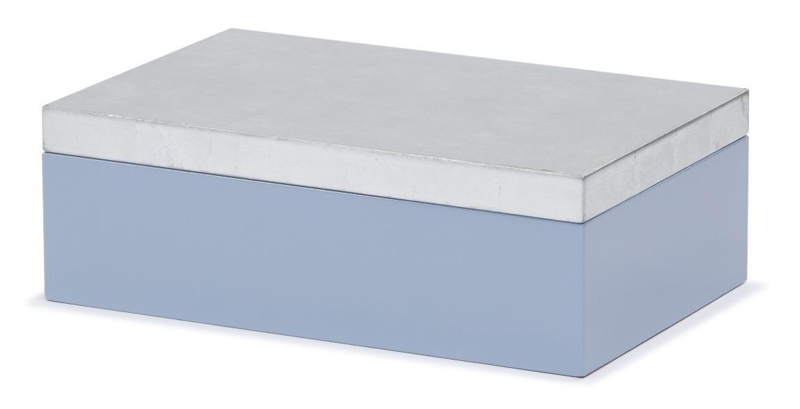 Storage MDF LACQUER SILVER FOIL 06