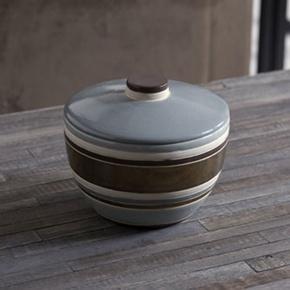 Striped Ceramic Candy Jar