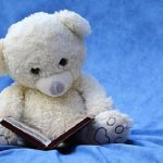 still_life_teddy_white_read_book_background_blue-844147