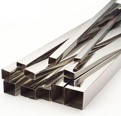 Aluminium pipes square