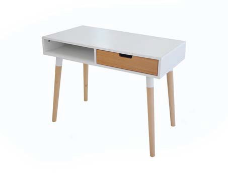 FULLIN MDF & RUBBER WOOD OFFICE TABLE 2