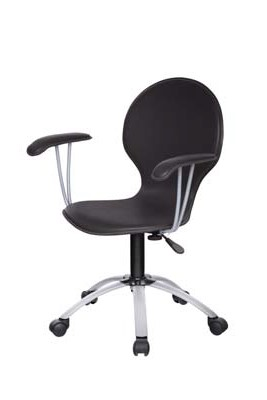 FULLIN PLYWOOD PVC LEATHER & METAL OFFICE CHAIR