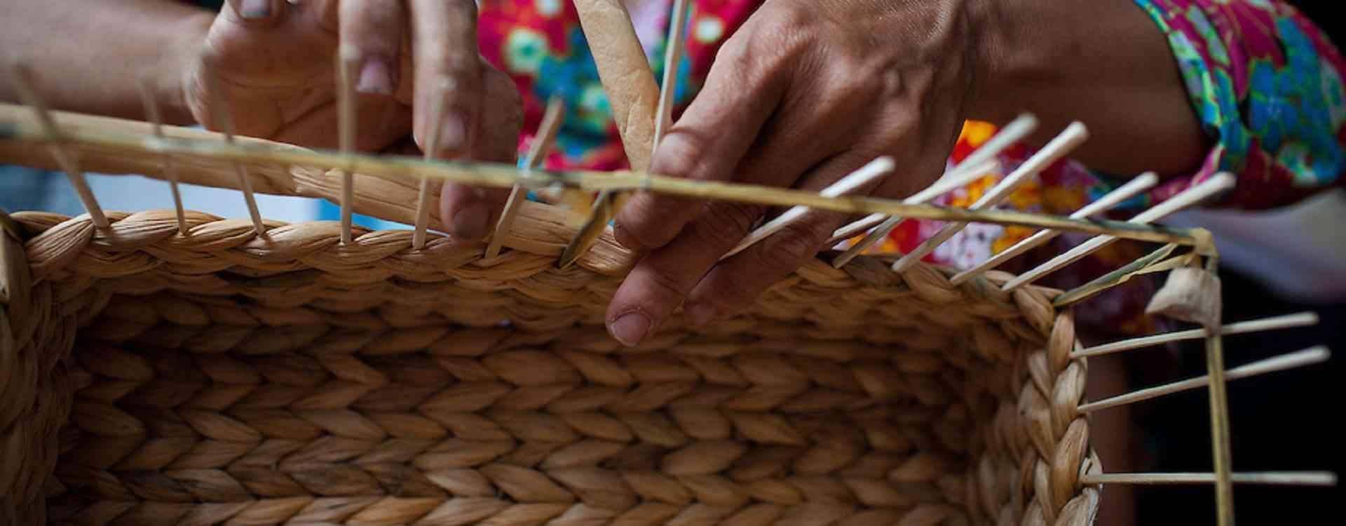 Water hyacinth weaving