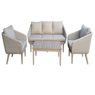 WANDAR 3SEATER SOFA SET OF 4