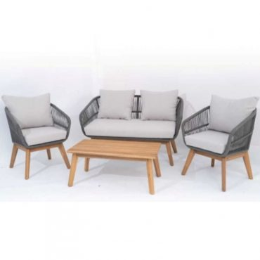 ALUMINIUM FRAME & ROPE SOFA SET OF 4