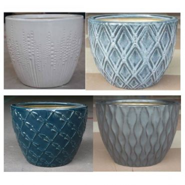 STRIPED COMBO (ceramic pots)
