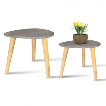 FIBER CEMENT OVAL TABLE