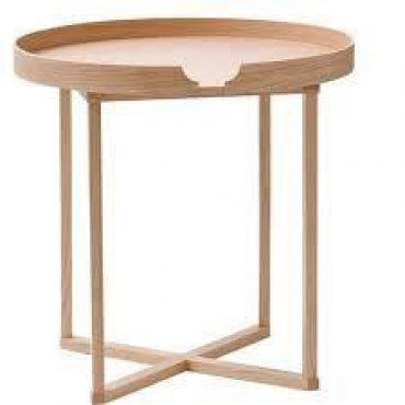 SIDE TABLE – NATURAL WOOD – RUBBER