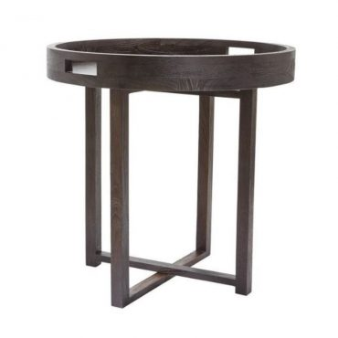 SIDE TABLE – VENEER – RUBBER