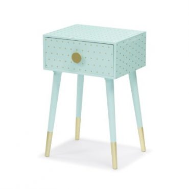 SIDE TABLE – METALLIC GOLD LEGS