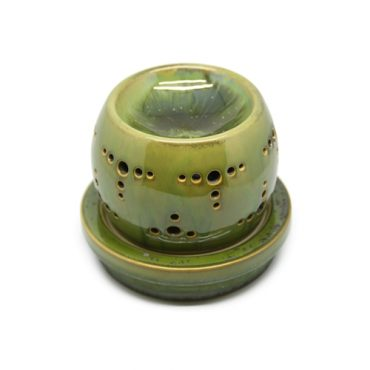PORCELAIN CRYSTAL GREEN ROUND OIL BURNER