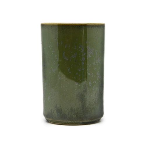 CRYSTAL GREEN 14 - LONG JAPANESE CUP - PORCELAIN