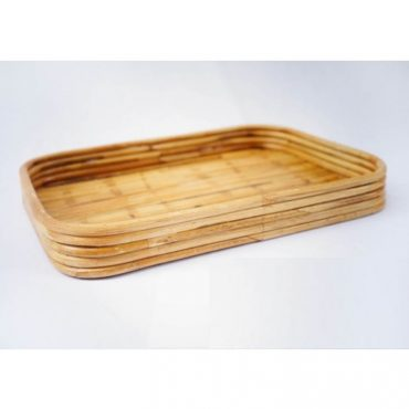 RATTAN RECTANGLE TRAY SET OF 3