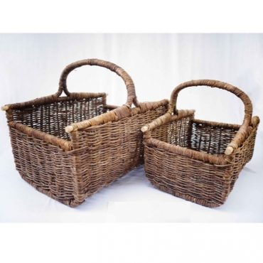 RATTAN BASKET DR SET OF 2