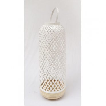 BAMBOO LANTERN WHITE-TALL