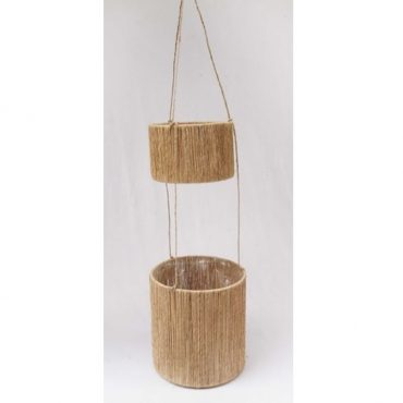 BAMBOO LANTERN BLACK HANDLE