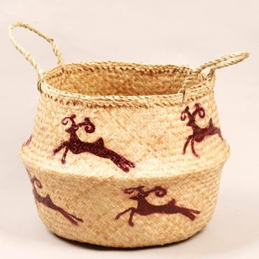 Belly basket – violet reindeers