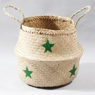 Belly basket – green stars