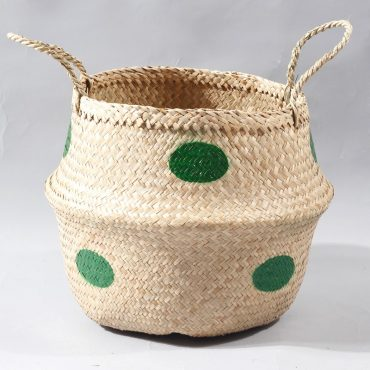 Belly basket – green dots
