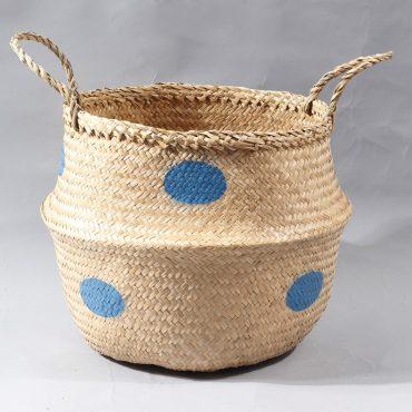 Belly basket – blue dots