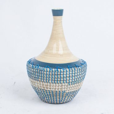 Seagrass & bamboo vase