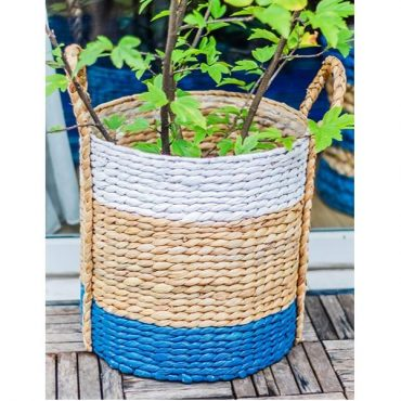Farmhouse basket – rice nut weave